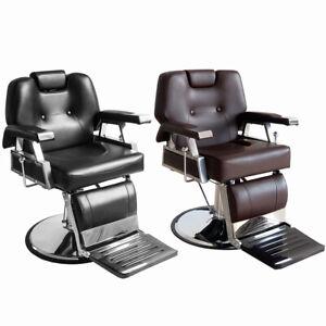 Reclining Barber Chair Salon Beauty Tattoo Shaving Hydraulic Heavy Duty Chair