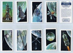 Brooke Bond The Race into Space  trade cards tea 1971 mint set