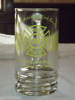 VINTAGE 1980  CONSHOHOCKEN PA  FIRE CO COUNTY STATION GLASS  MUG