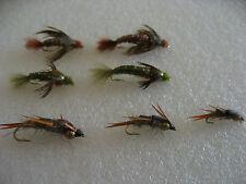 14 ninfas de la piedra, anzuelo con muerte. Pesca a mosca. FLY FISHING (28)