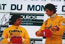 Martin DONNELLY PODIUM Autograph SIGNED LOTUS Formula 1 F1 12x8 Photo AFTAL COA
