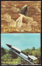 BHUTAN space gimmicky stamps 2v  @S3551