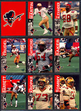 1995 REL CFL FOOTBALL 19 CARDS OTTAWA ROUGH RIDERS TEM SET RAY ALEXANDER BARRETT