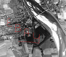 WWII HUGE 11X14 AERIAL RECON PHOTOGRAPH 8TH USAAF BOMBING LOIRE FRANCE 1944