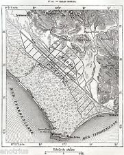 Carta: PALUDI PONTINE. Sezze.Piperno.Sonnino.Circeo.Terracina.Stampa Antica.1876