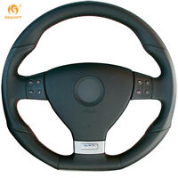 Leather Steering Wheel Cover for VW Golf 5 Mk5 GTI Golf 5 R32 Passat R GT #0316