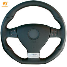Leather Steering Wheel Cover for VW Golf 5 Mk5 GTI Golf 5 R32 Passat R GT #GB16