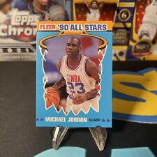 Michael Jordan 1990-91 Fleer All Star Sticker #5 NMMT Insert Card NBA Bulls HOF