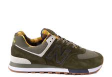 New Balance 574 Mens Athletic Comfort Suede Light Running Walking Shoes Olive .