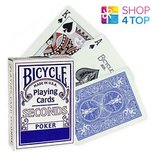 BICYCLE SECONDS PLAYING MAGIC TRICKS POKER CARDS DECK STANDARD INDEX BLUE USA