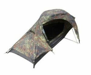 One Man Flecktarn Recon Tent - Camo Military Army Camping Hiking Backpacking New