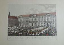 Carl Schütz INNERE ANSICHT DER KK HOFBURG Wien Kunstblatt Reproduktion print
