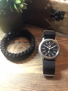 Seiko 5 Automatic SNK809K2 Upgraded Zuludiver Strap Fat Boy Springs Field Watch