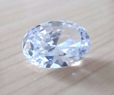Unheated 8x10mm AAA White Sapphire Oval Faceted Cut 4.05ct VVS Loose Gemstone