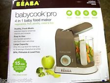 Beaba Babycook Pro Baby Food Maker and Steamer - Latte/Mint New Open Box