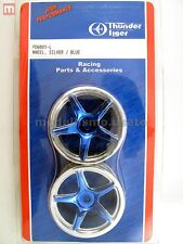 Thunder Tiger PD6601-L Cerchi Wheels Silver/Blue modellismo