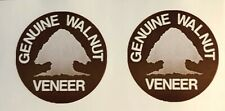"""Replacement """"Genuine Walnut Veneer"""" sticker for Realistic receivers and speakers"""