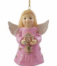 Goebel Angel Bell 2013 Nib Lilac Dress Holding Gingerbread House 108301 New Box