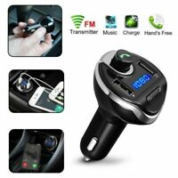 Auto Bluetooth FM Transmitter Auto MP3 Player Dual USB Charger KFZ Adapter SD TF