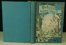 Ludwig Uhland Gedichte ca. 1900 German Classic Poetry Illustrated
