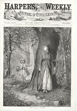 Whoop!  -   Lady and Girl playing Hide & Seek in Woods   -  1875