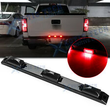 For Chevy Silverado 1500 2500HD Smoked Lens 9-LED Rear Truck Tailgate Light Bar