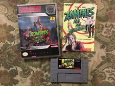 Zombies Ate My Neighbors (Super Nintendo SNES) Authentic Cart/manual ,Repro Case