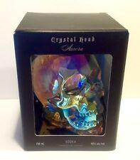 NEW EMPTY + BOX CRYSTAL HEAD VODKA SKULL AURORA BOREALIS 750ML BOTTLE