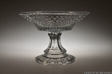ca. 3Q 1800s Inverted Diamond by Unknown Flint Clear 8.25� W Compote