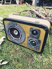 Animated Haunted Old School Radio Halloween Decoration Prop Sound Music Speaker