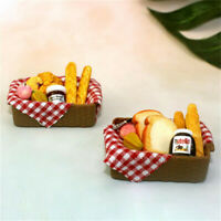1:12 Dollhouse Miniature Breakfast Set Bread Basket Doll House Food Accessor_hl