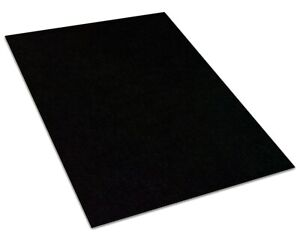 Coal Black 30 oz Durable Cut Pile Area Rug. Multiple sizes and shapes to choose