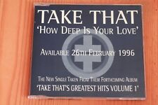 Take That - How Deep Is Your Love - Boitier neuf CD single promo