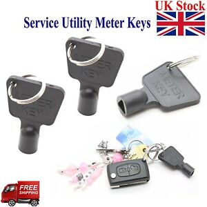 Service Utility Meter Key Gas Electric Box Cupboard Cabinet Triangle Reading DIY