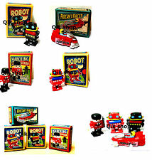 Retro Marching Wind Up Toy Marching Gaurd, 2X Robot, Race Car In a Retro Box