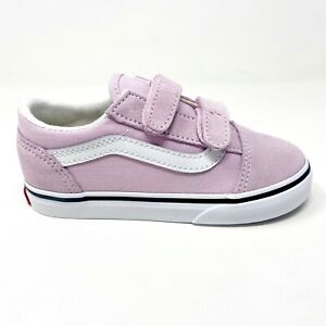 Vans Old Skool V Lilac Snow Pink True White Toddler Size 10