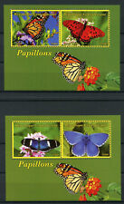 Central African Rep 2017 MNH Butterflies 2x 2v M/S Monarch Butterfly Stamps
