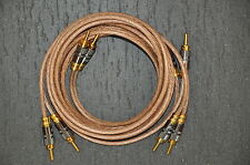COPPIA cavo diffusori 6mmq - rame OFC copper - speaker cable - NEW- 2,5m cablata
