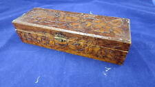 Vtg. Wooden Ornate Glove Box 1910