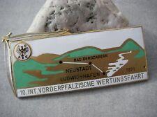 Plakette ADAC - 10. INT. RALLYE VORDERPFALZ 1971 - emailliert Badge BMW PORSCHE