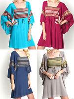 Umgee Dress Size S M L Bell Sleeve Lace Tunic Free Boho People Womens New