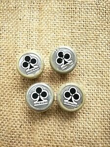 Vintage Colnago Chrome style handlebar drop bar end plugs, caps for tape 1 pair