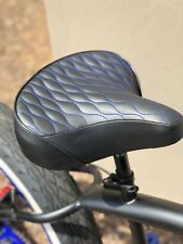 Custom Beach Cruiser Comfortable Bicycle Seat- BLUE STITCHING