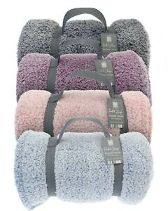 Frosted Design Sherpa Blanket Throws
