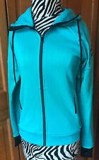 Adidas Women's Full Zip Up Hoodie Jacket Blue/Aqua Size Extra Small