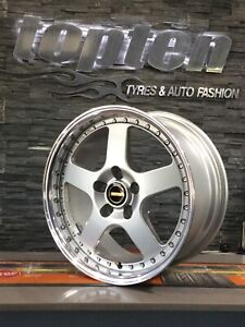 """SIMMONS FR1 17"""" STAGGERED ALLOY WHEELS HOLDEN TORANA"""