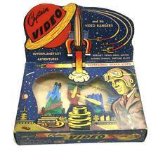 1950s Vintage Captain Video & Rangers Spaceship Set Boxed Mint New Display Flap
