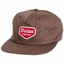 dae1e562c02 Brixton Novato Snapback Hat Brown Red Mens 888588173701