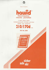 HAWID STAMP MOUNTS Block Size 210 x 170mm CLEAR Back Pack of 5 - Ref. No. 2204