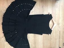 £500 Azzedine Alaia Black FULL Skater Short Cocktail Dress Size 40